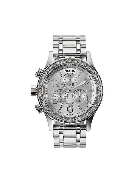 NIXON 38-20 Chrono All Silver Crystal