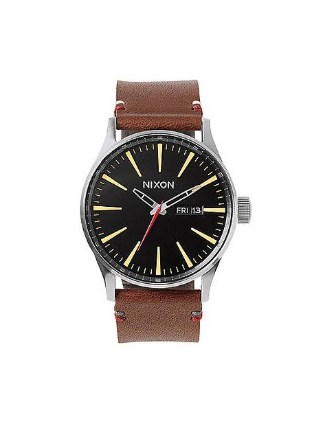 NIXON Sentry Leather Black/Brown