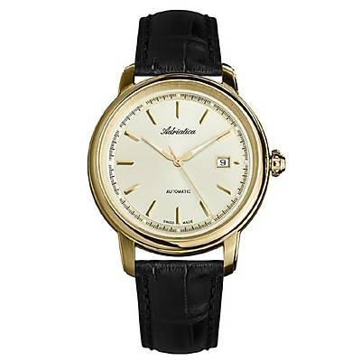 zegarek męski złoty Adriatica A1197.1211A
