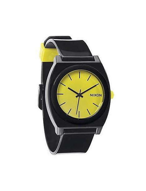 NIXON Time Teller P Black/Lime