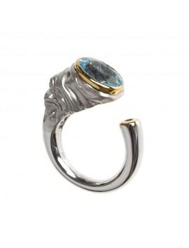 K100014 German Kabirski pierścionek z topazem