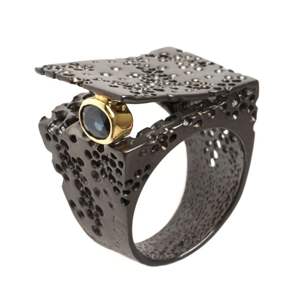 K100623 German Kabirski pierścienie z kamieniem szlachetnym