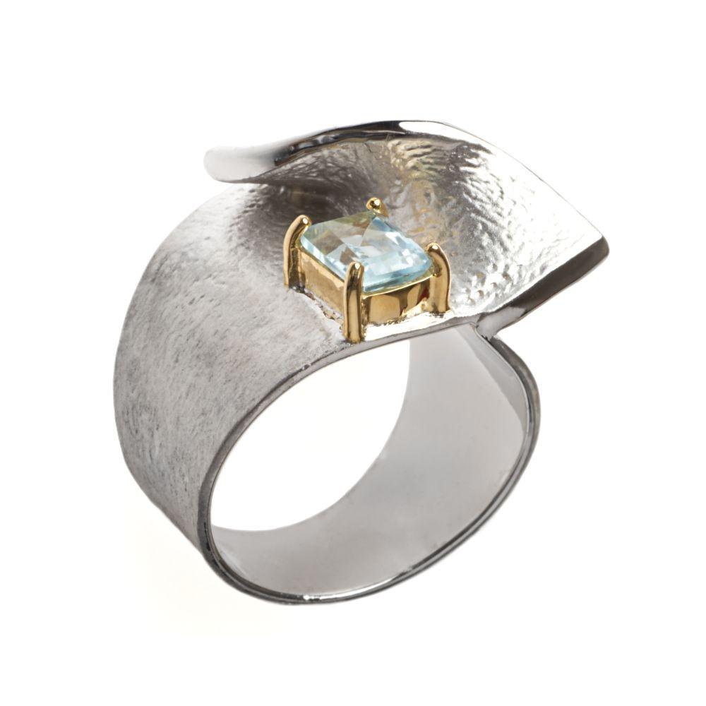 K100982 German Kabirski pierścionek z topazem