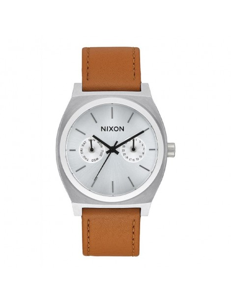 NIXON Time Teller Deluxe Leather...