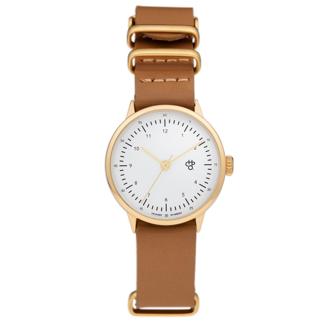 zegarek na pasku skórzanym