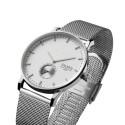 zegarek na bransolecie mesh srebrnej