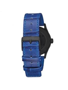 NIXON Sentry 38 Leather Black/Blue Gator