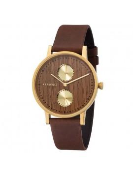 zegarek damski Kerbholz Clara Gold/Walnut/Tobacco
