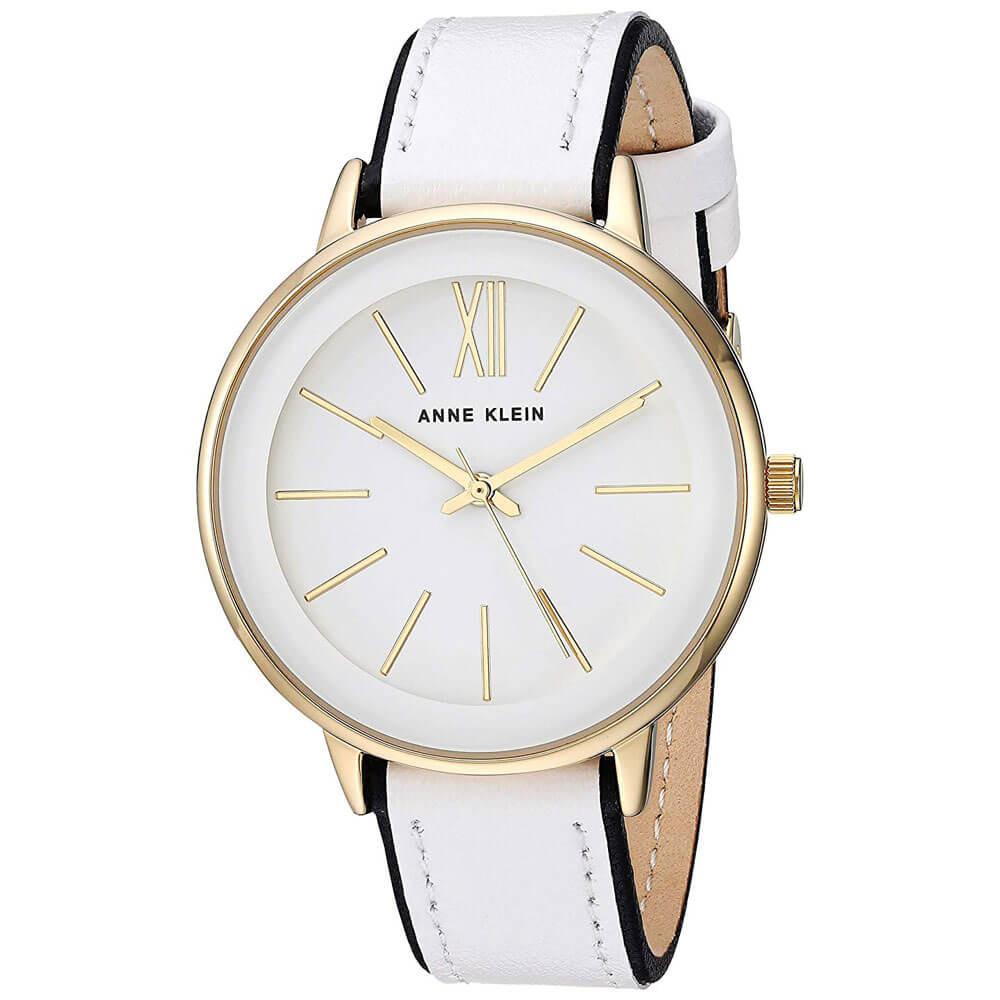 Zegarek damski na białym pasku