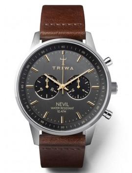 zegarek męski Triwa Smoky Dark Brown Classic NEST114-CL010412