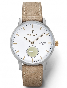 zegarek TRIWA SVALAN Grace Sand Vegan Sewn Super Slim