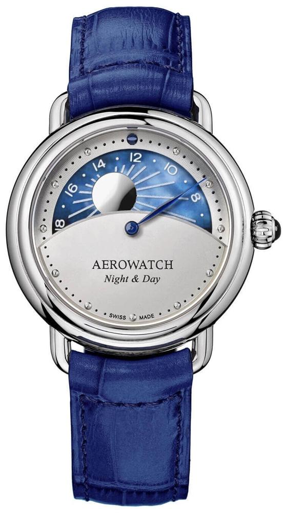 zegarek damski na pasku Aerowatch 1942 Day & Night
