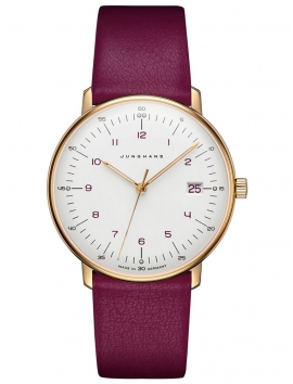 Zegarek damski na pasku JUNGHANS Max Bill 047/7850.04