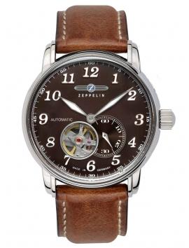 7666-4 Zegarek męski na skórzanym pasku Zeppelin LZ127