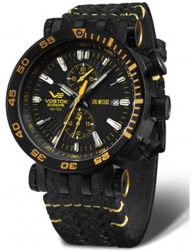 zegarek męski sportowy VOSTOK EUROPE Energia VK61-575C589 na pasku skórzanym