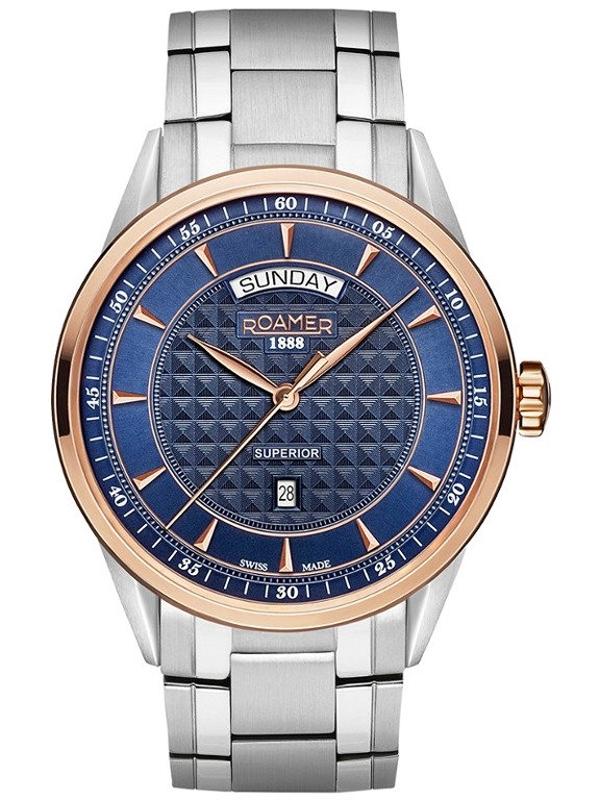 męski zegarek na bransolecie Roamer 508293-49-45-50