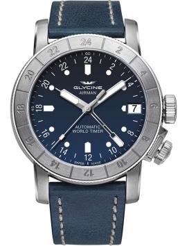 Zegarek męski na pasku skórzanym GLYCINE Airman 46 GL0060