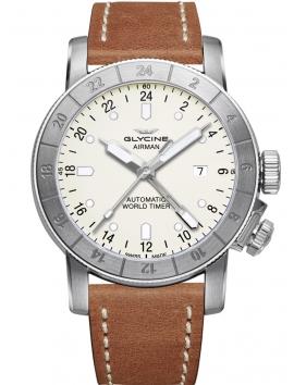Zegarek męski na pasku skórzanym Glycine Airman 44 GL0055