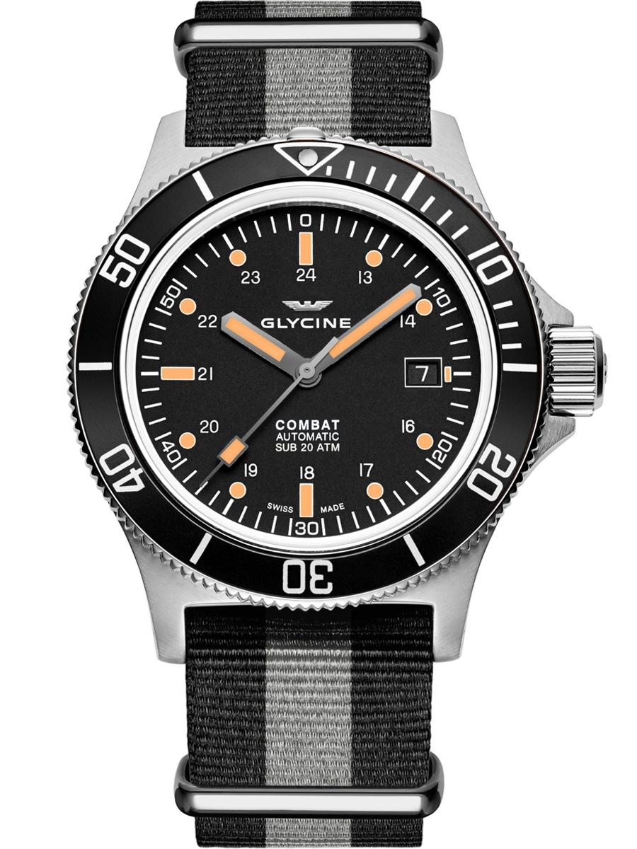 GL0083 Glycine Combat SUB 42 męski zegarek sportowy