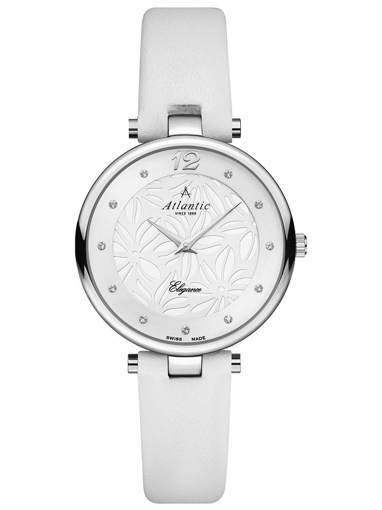 zegarek damski na skórzanym pasku ATLANTIC 29037.41.21L