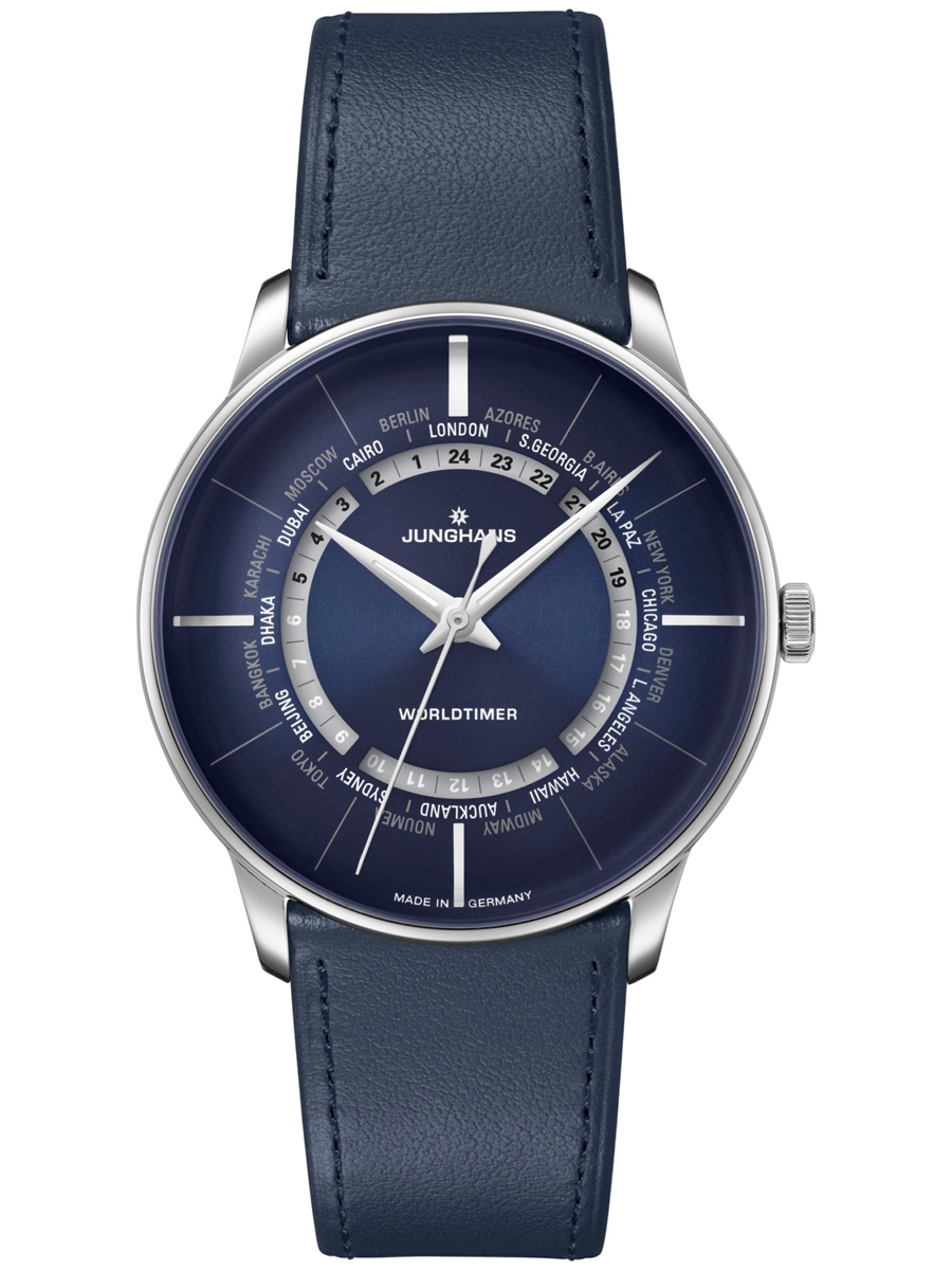 zegarek męski Junghans na skórzanym pasku 027/3010.02