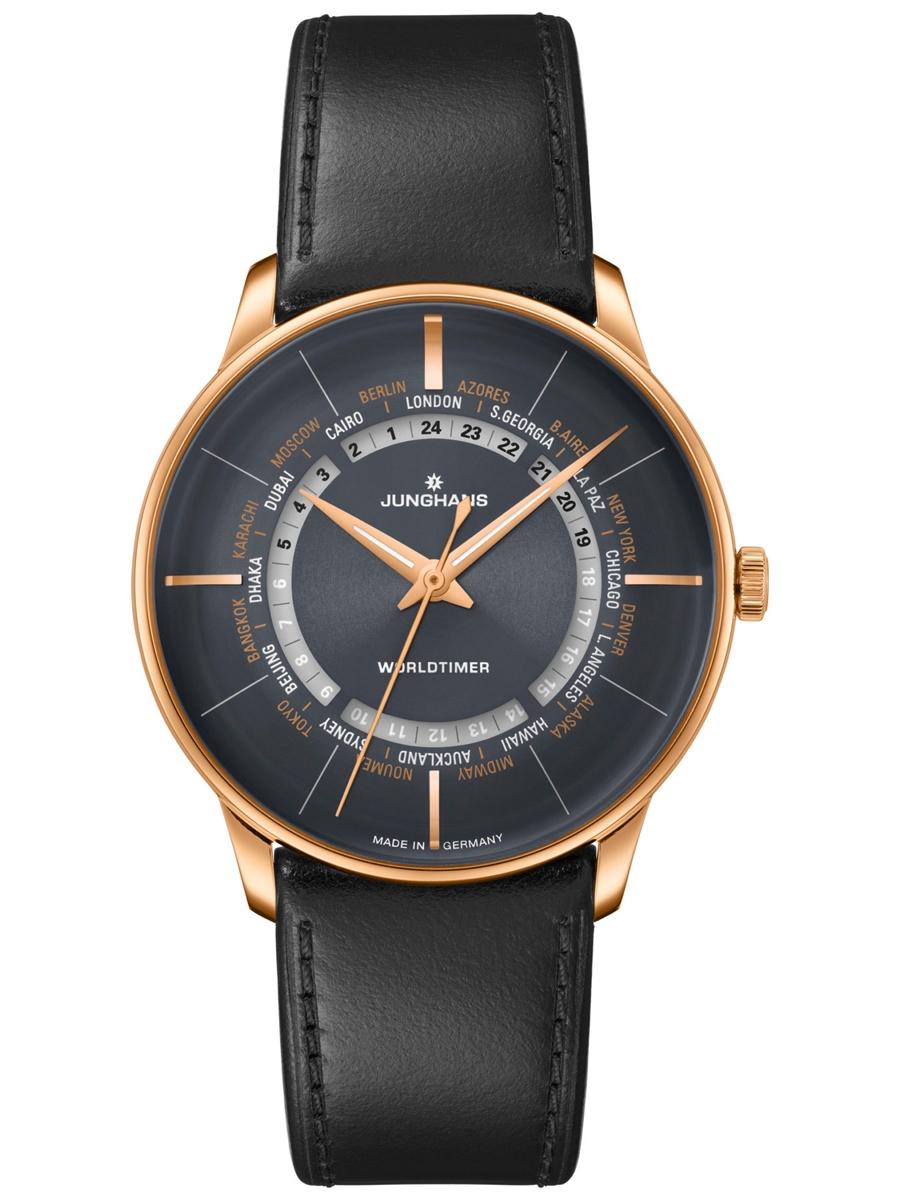 zegarek męski Junghans na skórzanym pasku 027/5013.02