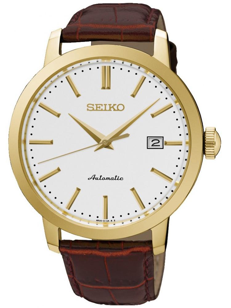 zegarek męski złoty Seiko SRPA28K1