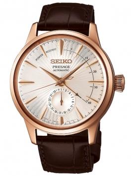 zegarek męski na pasku skórzanym SEIKO Presage Coctail Limited Edition SSA346J1