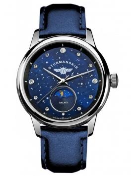 Zegarek na pasku skórzanym SZTURMANSKIE Galaxy 9231-5361192