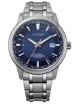 męski zegarek na bransolecie CITIZEN Radio Controlled Titanium CB0190-84L
