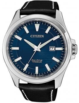 zegarek męski na pasku skórzanym Citizen BM7470-17L