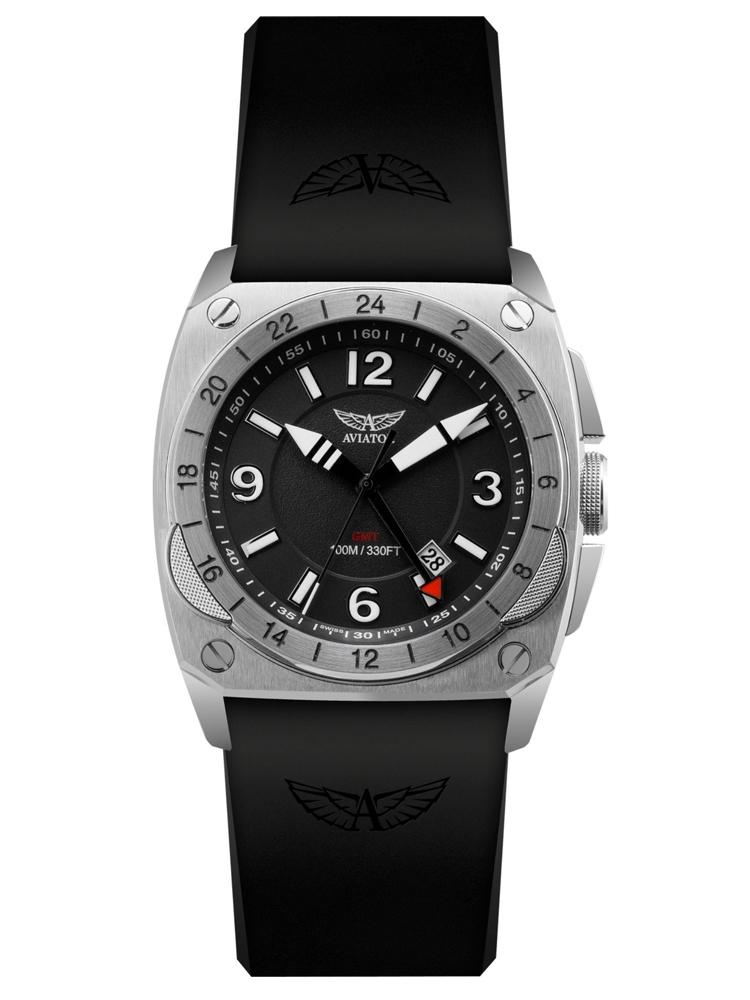 zegarek meski AVIATOR Swiss Made MIG-29 GMT
