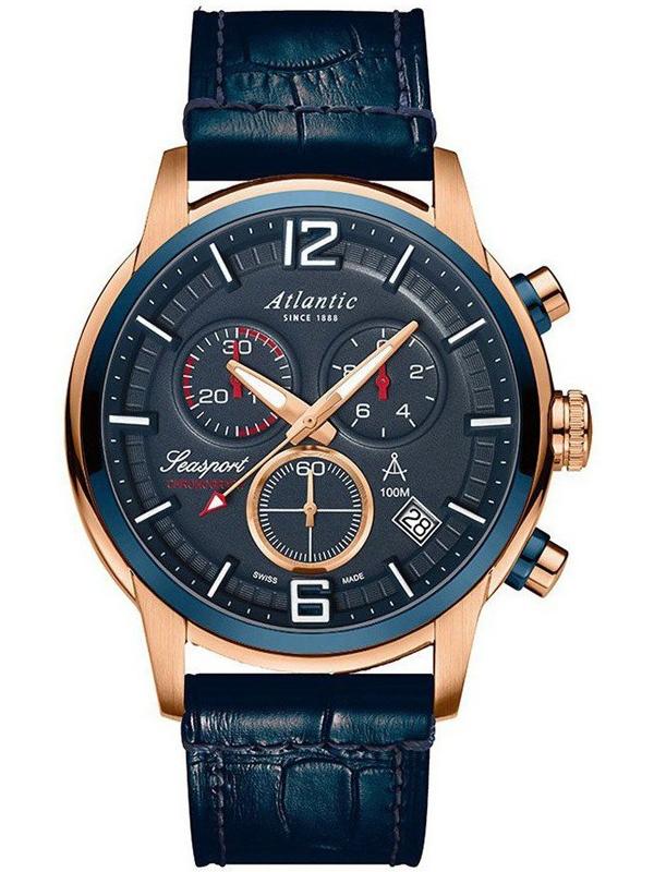 zegarek męski na pasku ATLANTIC Seasport 87461.44.55