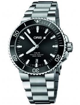 męski zegarek do nurkowania ORIS Aquis Date 0173377304134-0782405PEB