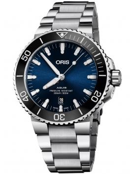 Zegarek męski na bransolecie ORIS Aquis Date 0173377304135-0782405PEB