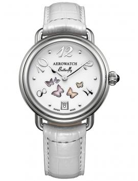 zegarek damski na pasku Aerowatch 1942 Butterfly A 44960 AA01