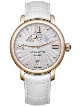 złoty zegarek damski Aerowatch Renaissance Day & Night 44938 RO15