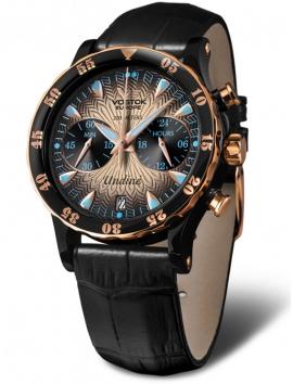 Damski zegarek z wymiennymi paskami Vostok Europe Undine VK64-515E627