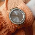 Damski zegarek na bransolecie rose gold