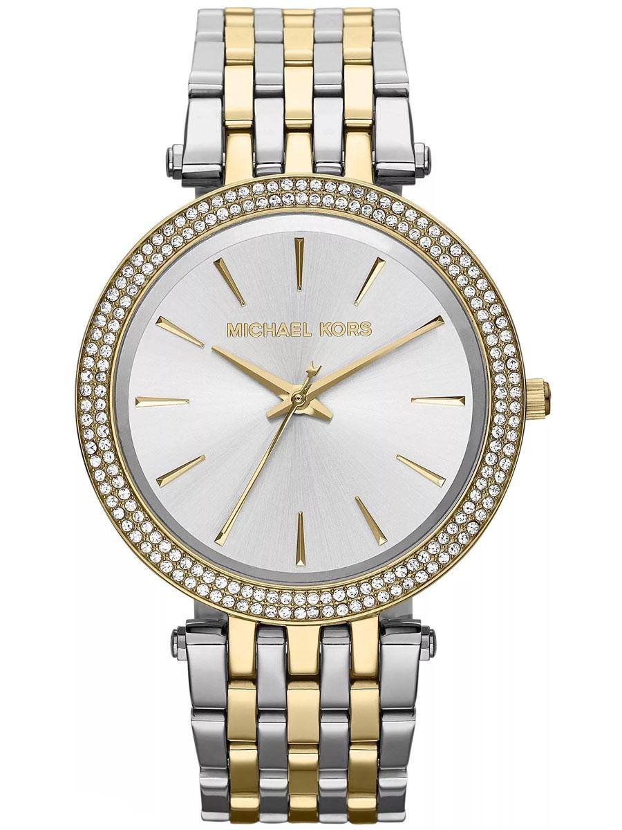 damski zegarek na bransolecie bikolor MICHAEL KORS MK3215