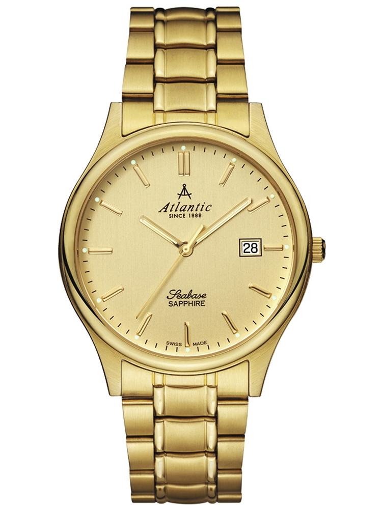 zegarek męski złoty ATLANTIC Seabase 60347.45.31