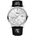 zegarek męski na pasku skórzanym ATLANTIC Super De Luxe 64352.41.21