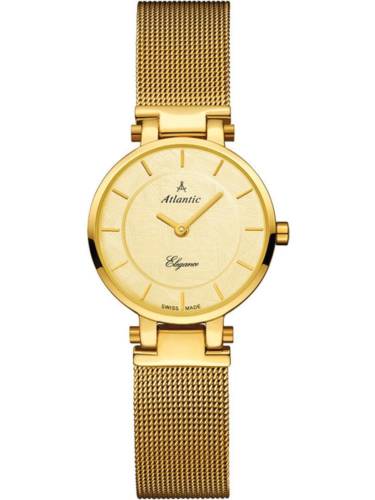 złoty zegarek damski na bransolecie ATLANTIC Sealine 29035.45.31