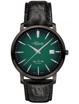 64351.46.71 ATLANTIC Super De Luxe czarny zegarek męski