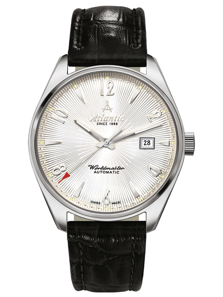 51752.41.25S ATLANTIC Worldmaster męski zegarek na pasku skórzanym