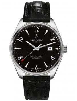 51752.41.65S ATLANTIC Worldmaster czarny męski zegarek na pasku