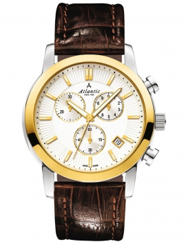 62450.43.21G ATLANTIC Sealine męski zegarek na pasku skórzanym