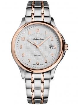 A1272.R123Q Adriatica męski zegarek na bransolecie bikolor