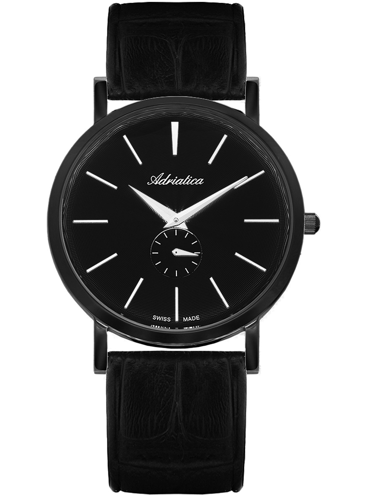 A1113.B214Q Adriatica męski zegarek na pasku skórzanym