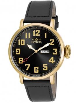 18432 Invicta męski zegarek na pasku skórzanym
